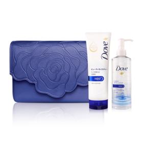 Dove Beauty Moisture Set 3 Items (Micellar Water 235ml + Facial Foam 130g + Aristotle Bag #Blue)