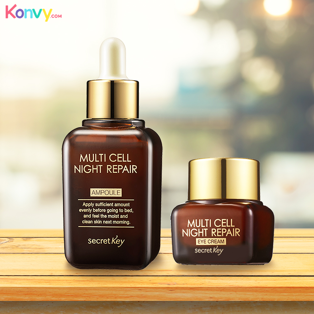 (6 Pack) SECRET KEY Multy Cell Night Repair Ampoule SALLY HANSEN Colorfast Tint + Moisture Balm - Health Nut