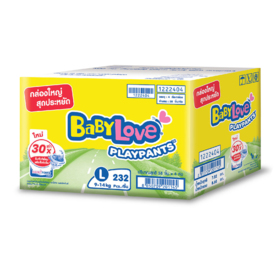 BabyLove Play Pants Nanopower Plus Super Save Box Pack (232pcs) #L