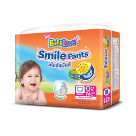 Babylove Smile Pants 76pcs #S