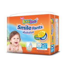 Babylove Smile Pants 72pcs #M
