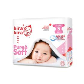 Kira Kira Pure & Soft Baby Tape Diaper 64pcs #S