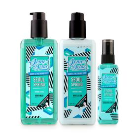 Jomedoba Seoul Spring Set 3 Items (Body Wash 236ml + Body Lotion 236ml + Fragrance Mists 100ml)