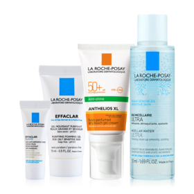 La Roche Posay Online Exclusive Set 4pcs (Anthelios XL Drytouch SPF50+ 50ml+Micellar For Oily Skin 50ml+Effcalar Foaming Gel 15m