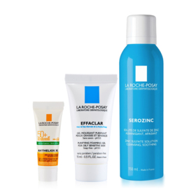 La Roche Posay Online Exclusive Set 3pcs (Serozinc 150ml+Anthelios Dry Touch 3ml+Effaclar Foaming Gel 15ml)