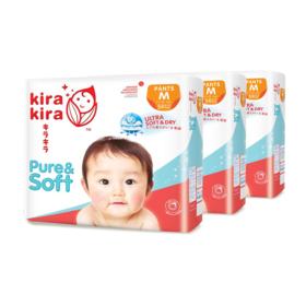 Kira Kira Pure & Soft Baby Pant Diaper 54pcs x 3packs (162pcs in box) #M