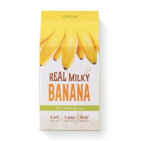 Lovluv Real Milky Banana Mask (26ml x 5pcs)