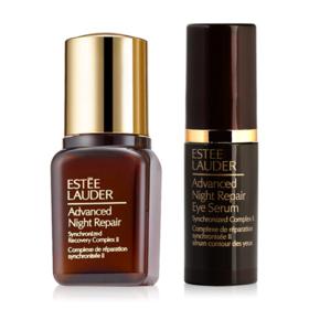 Estee Lauder Advanced Night Repair Set 2 Items (Synchronized Recovery Complex II 7ml +  Eye Serum 4ml) (No box)