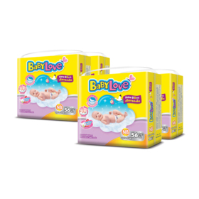 BabyLove Easy Tape Jumbo Size 56pcs x 4packs (224pcs in box) #Newborn