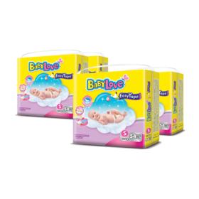 BabyLove Easy Tape Jumbo Size 54pcs x 4packs (216pcs in box) #S