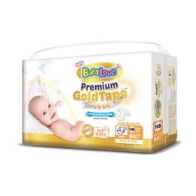 BabyLove Premium Gold Tape Perfection Protection 84pcs #Newborn