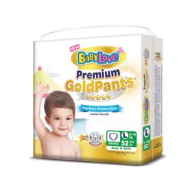 BabyLove Premium Gold Pants Perfection Protection 52pcs #L