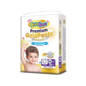 BabyLove Premium Gold Pants Perfection Protection 38pcs #XXL