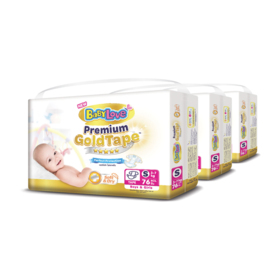 BabyLove Premium Gold Tape Perfection Protection 76pcs x 3packs (228pcs in box) #S