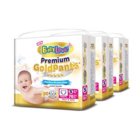 BabyLove Premium Gold Pants Perfection Protection 70pcs x 3packs (210pcs in box) #S