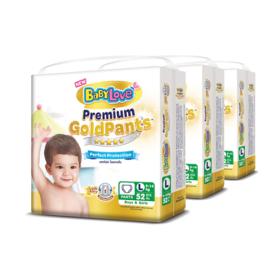 BabyLove Premium Gold Pants Perfection Protection 52pcs x 3packs (156pcs in box) #L