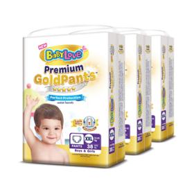 BabyLove Premium Gold Pants Perfection Protection 38pcs x 3packs (114pcs in box) #XXL