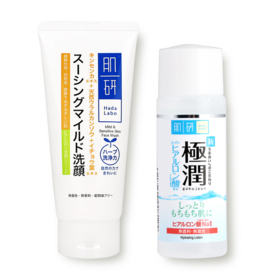 Hada Labo Mild & Sensitive Skin Face Wash 100g Free Lotion