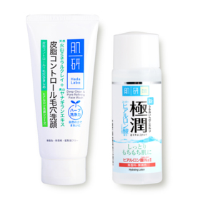 Hada Labo Deep Clean & Pore Refining Face Wash 100g Free Lotion