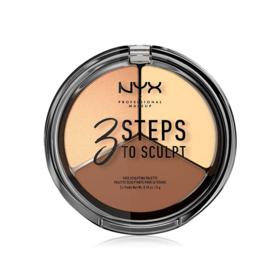 NYX Professional Makeup 3 Steps To Sculpt Face Sculpting Palette #Light