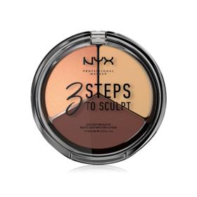 NYX Professional Makeup 3 Steps To Sculpt Face Sculpting Palette #Medium