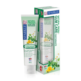 แพ็คคู่ Sparkle Natural Fresh & Gum Care Toothpaste (100g x 2tube)