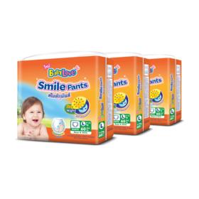 Babylove Smile Pants 60pcs x 3packs (180pcs in box) #L