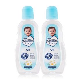 แพ็คคู่ Cussons Baby Oil Mild&Gentle #Chamomile Oil (200mlx2)