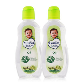 แพ็คคู่ Cussons Baby Oil Naturals #Aloe Vera & Olive Oil (200mlx2)