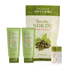 Coreana Senite Nokdu Pure Trial Kit 4 Items (Toner 4ml + Emulsion 4ml + Foam 4g + Peeling Gel 4g)