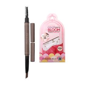 Preciosa Color Bloom Auto Eyebrow Pencil #2 Dark Brown Free Preciosa Color Bloom Eyebrow Drawing Guide Korea Style