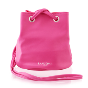 Lancome Bucket Leather Bag #Pink