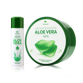 Freshment Soothing And Moisture Aloe Gel (300ml) แถมฟรี Freshment Soothing Mineral Spray With Aloe Vera (50ml)