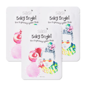 sasi by Srichand Baby Bright Skin Brightening Lychee Mask (20g x 3pcs)