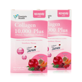 แพ็คคู่ Kokori Collagen 10,000 Plus (12g x 8sachets)