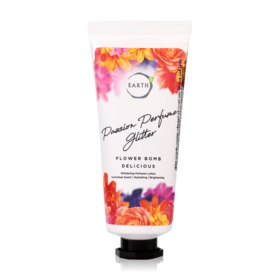 EARTHs Passion Perfume Glitter Flower Bomb Delicious Body Lotion 30g
