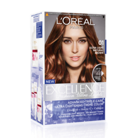 LOreal Paris Excellence Fashion Ultra Lights #01 Ultra Light Natural Brown