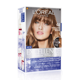 LOreal Paris Excellence Fashion Ultra Lights #02 Ultra Light Golden Brown