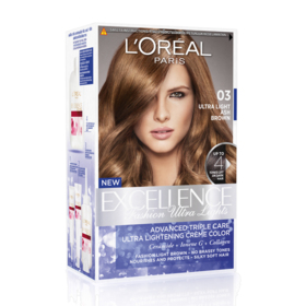 LOreal Paris Excellence Fashion Ultra Lights #03 Ultra Light Ash Brown
