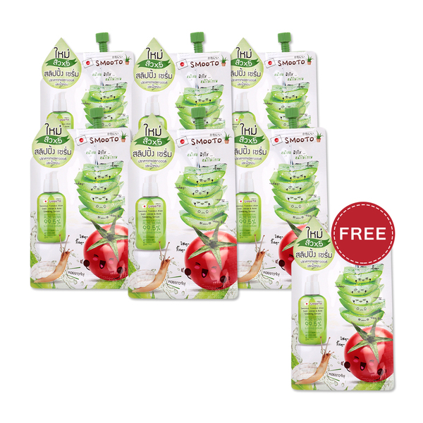 Smooto Japan Tomato Aloe Snail White Acne Sleeping Serum 10ml x 6pcs Free Smooto Japan Tomato. >>>>