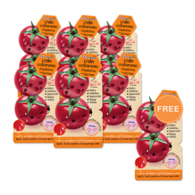 Smooto Japan Tomato Collagen White & Smooth Mask (10g x 6pcs) (Free! Smooto Japan Tomato Collagen White & Smooth Mask 10g)