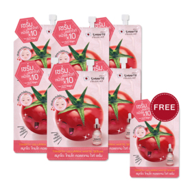 Smooto Japan Tomato Collagen White Serum (10g x 6pcs) (Free! Smooto Japan Tomato Collagen White Serum 10g)