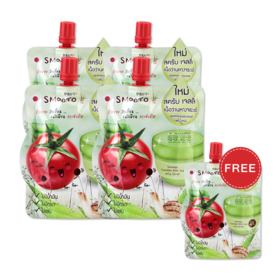 Smooto Japan Tomato Aloe Snail Jelly Scrub (50ml x 4pcs) (Free! Smooto Japan Tomato Aloe Snail Jelly Scrub 50ml)