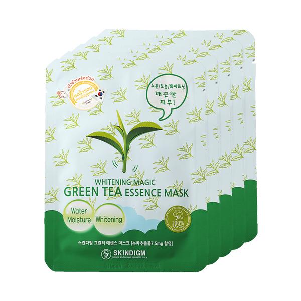Skindigm+Whitening+Magic+Green+Tea+Essence+Mask+%2826ml+x+5pcs%29