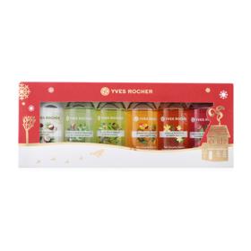 Yves Rocher Christmas 2017 Shower Gel Kit Set 6 Items (50ml x 6)