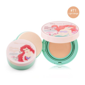 Cute Press Marine Magic Magic Foundation Compact SPF37/PA++ #T1 Light Beige (Free! Marine Magic Oil Control Loose Powder)