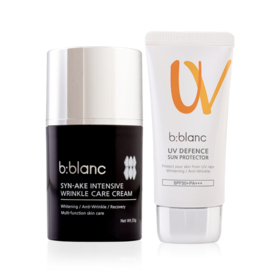 B-Blanc Set 2 Items (Syn-Ake Intensive Wrinkle Care Cream 55g + UV Defence Sun Protector SPF50+/PA+++ 30g)