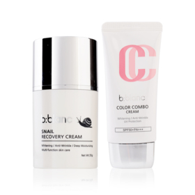 B-Blanc Set 2 Items (Snail Recovery Cream 55g + Color Combo Cream SPF50+/PA+++ 30g)