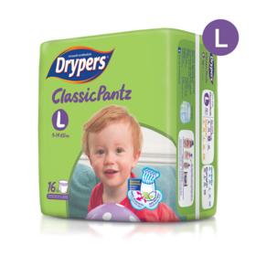 Drypers Classicpantz 16pcs #L