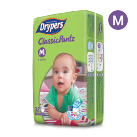 Drypers Classicpantz 38pcs #M